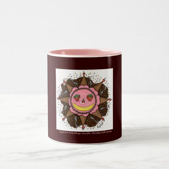 Strawberry Sun Days - Two Tone mug (pink)