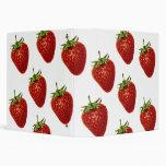 Strawberry Sundae Delight Office Binder Folder