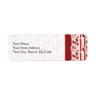 Strawberry Sweet Treats Pattern - Personalize It Label