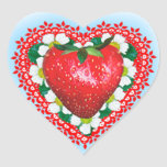 STRAWBERRY SWEETHEART VALENTINE'S DAY STICKERS