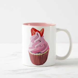 Strawberry swirl cupcake mug