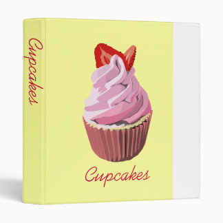 Strawberry  swirl Cupcake recipe binder