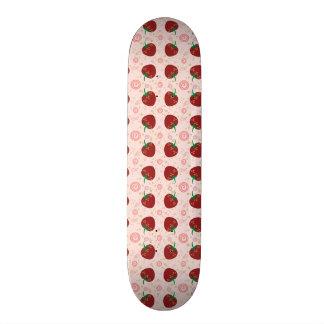 Strawberry Swirl Pattern Skateboard Deck