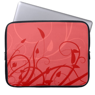 Strawberry Swirl Pink & Red Girly Floral Design Computer Sleeves