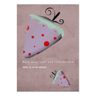 Strawberry swirls red polka dots business cards