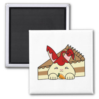 Strawberry Syrup Vanilla Hopdrop And Cake 2 Inch Square Magnet