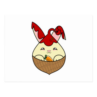 Strawberry Syrup Vanilla Hopdrop Mini Waffle Cone Postcard