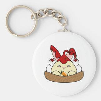 Strawberry Syrup Vanilla Hopdrop Waffle Sundae Keychain