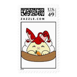 Strawberry Syrup Vanilla Hopdrop Waffle Sundae Postage Stamps