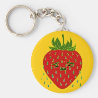 Strawberry Tears Doodle Art Keychain