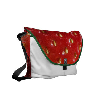 Strawberry Texture Bag Messenger Bags