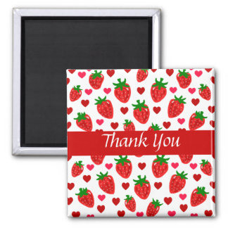 Strawberry Thank You Magnets