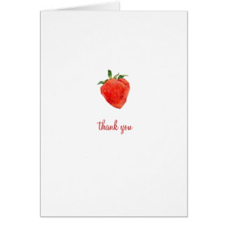 Strawberry Thank You Note Card