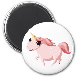 Strawberry the Pink Unicorn Fridge Magnets