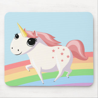 Strawberry the Unicorn Mouse Pad