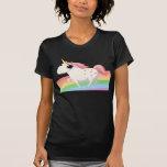 Strawberry the Unicorn on Rainbow T-shirts
