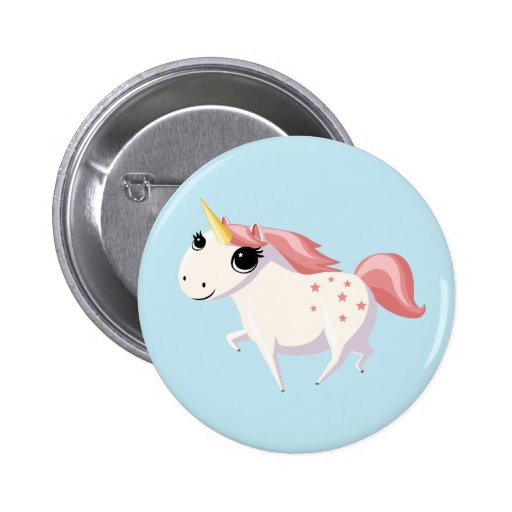 Strawberry the Unicorn Pinback Buttons