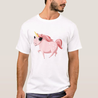 Strawberry the Unicorn - Pink T-Shirt