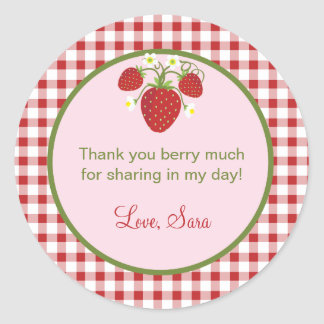 Strawberry Theme Favor Sticker