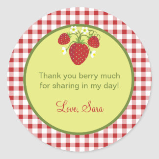 Strawberry Theme Favor Sticker