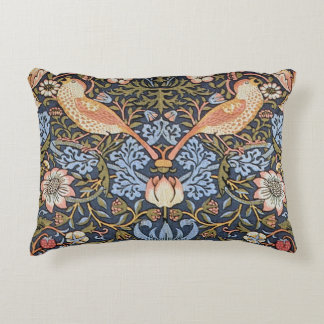 Strawberry Thief by William Morris Decorative Pillow