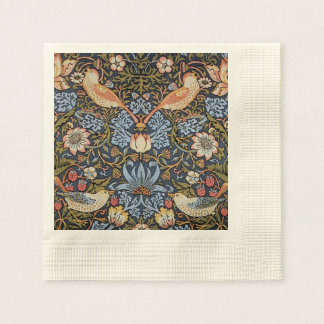 Strawberry Thief By William Morris Disposable Napkins