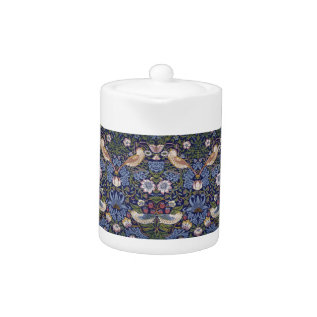 Strawberry Thief By William Morris Teapot at Zazzle
