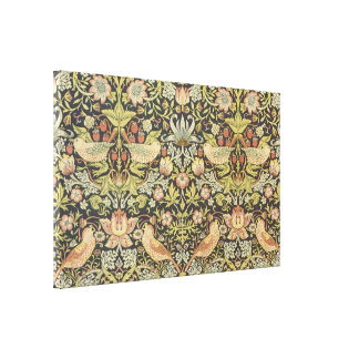 Strawberry Thieves by William Morris, Textiles Canvas Print