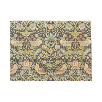 Strawberry Thieves by William Morris, Textiles Doormat