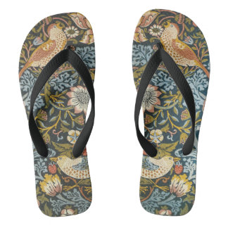 Strawberry Thieves by William Morris, Textiles Flip Flops