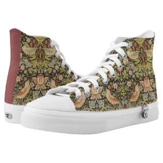 Strawberry Thieves by William Morris, Textiles High-Top Sneakers
