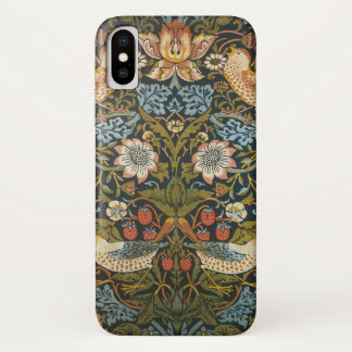Strawberry Thieves by William Morris, Textiles iPhone X Case