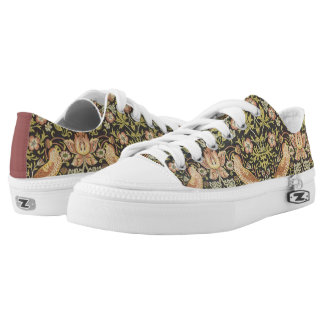 Strawberry Thieves by William Morris, Textiles Low-Top Sneakers