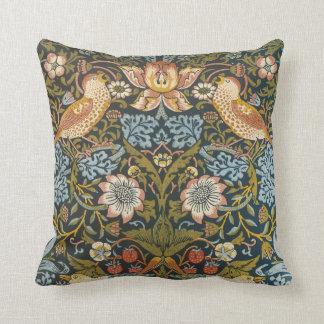 Strawberry Thieves by William Morris, Textiles Throw Pillow