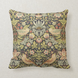 Strawberry Thieves by William Morris Throw Pillows