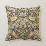 Strawberry Thieves by William Morris Victorian Art Throw Pillows