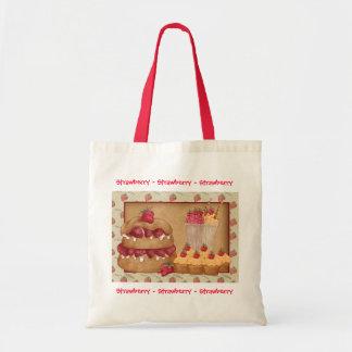 Strawberry Tote Bag, Strawberry Cake, Ice Cream