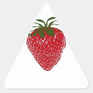 Strawberry: Triangle Sticker