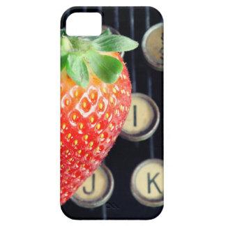 Strawberry typewriter keys iPhone SE/5/5s case