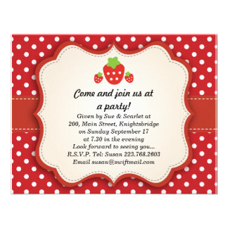 Strawberry {updated link below} personalized invite