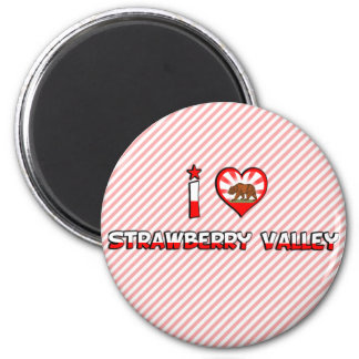 Strawberry Valley, CA Magnets