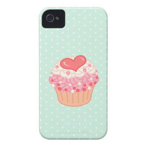 Strawberry Vanilla Cupcake iPhone 4 Covers