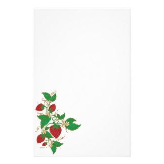 Strawberry Vine Notepaper Stationery