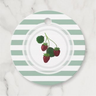 Strawberry Vine Personalized Favor Tags