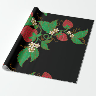 Strawberry Vine Wrapping Paper