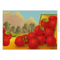 Strawberry Vintage Fruit Crate Art Blank Card