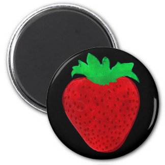Strawberry Vintage Look 2 Inch Round Magnet