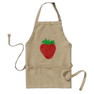Strawberry Vintage Look Adult Apron