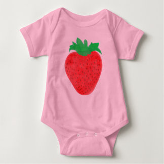 Strawberry Vintage Look Baby Bodysuit