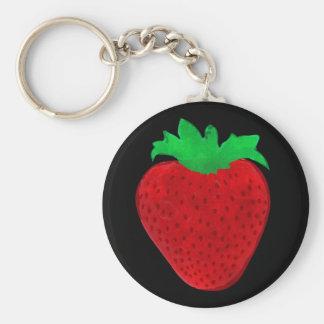 Strawberry Vintage Look Keychain